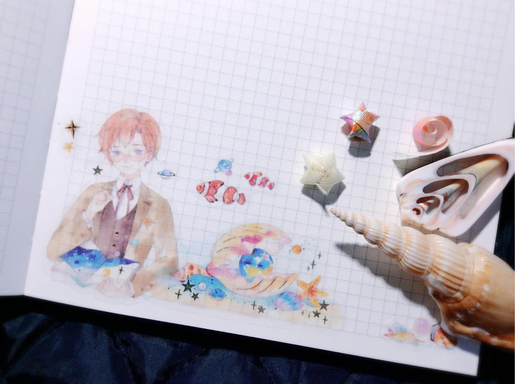 ✨胶带排版:海洋日记&夏空系列... ,手帐工具