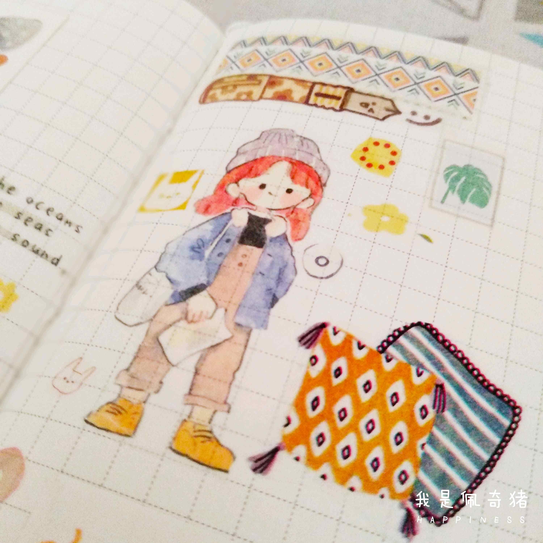 手账 【No.16】佩奇猪的手帐■背... ,手帐工具