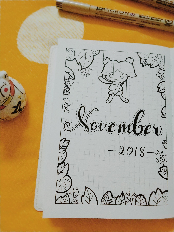 手账 阿宅喵·Bujo|11月月历和..., 手帐工具