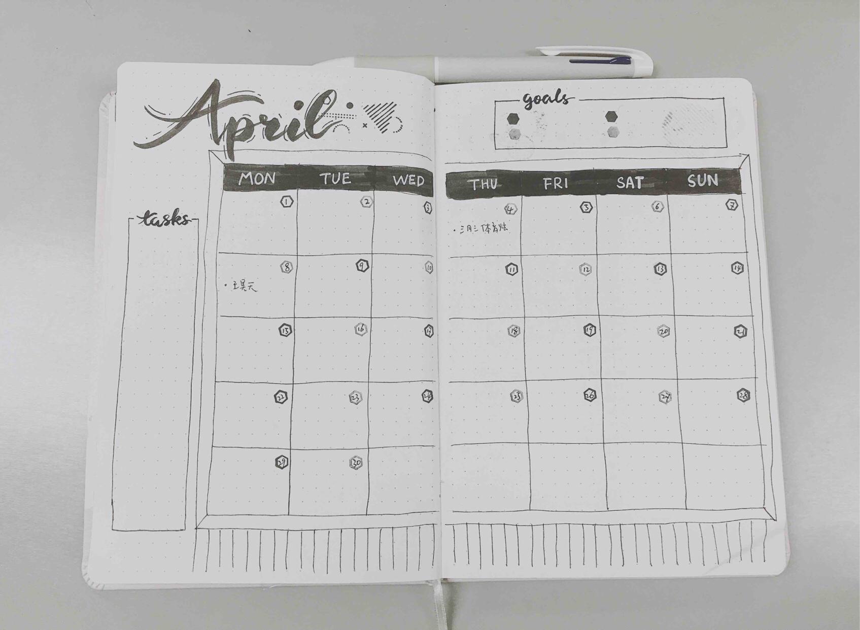 手帐 #4月bujo#抓住3月的小尾... ,手帐工具