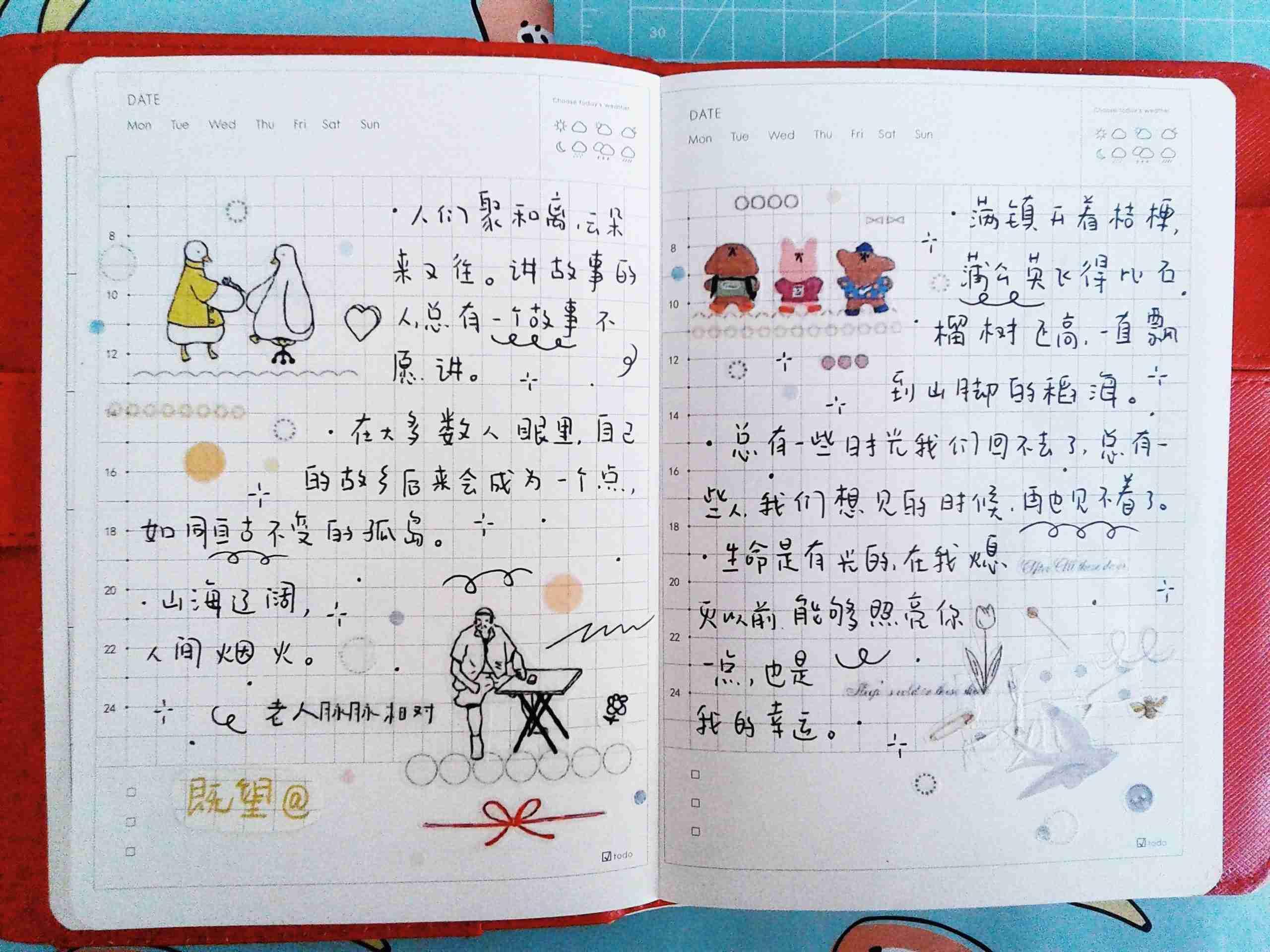手账 盐系拼贴➕摘抄您安(´∀`)♡... ,手帐工具