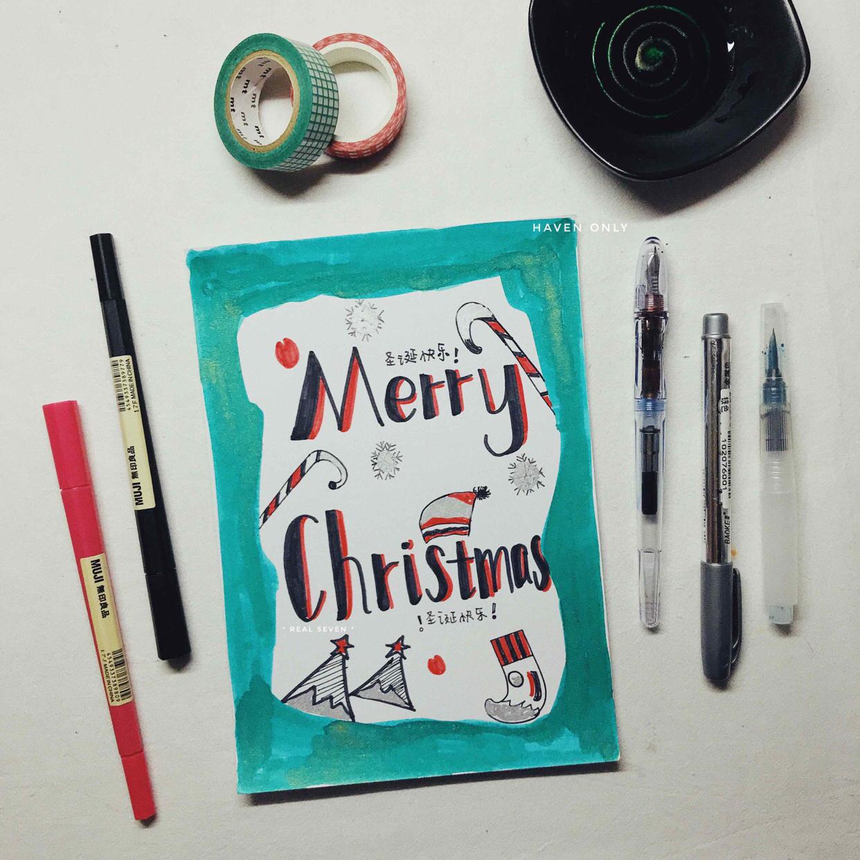 手账 |Christmascard自..., 手帐工具