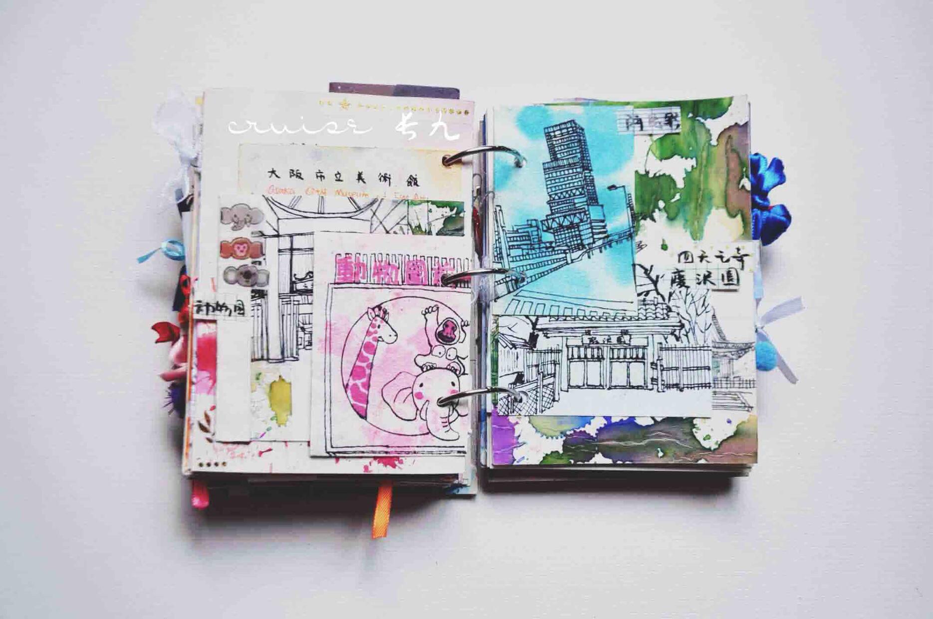 手帐 📍详图5【大阪旅行手账jun..., 手帐工具